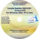 Toshiba Satellite 2805-S301 Drivers Recovery CD/DVD