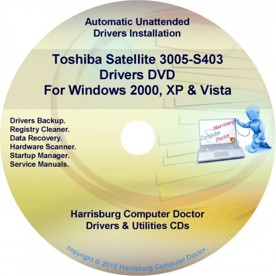 Toshiba Satellite 3005-S403 Drivers Recovery CD/DVD