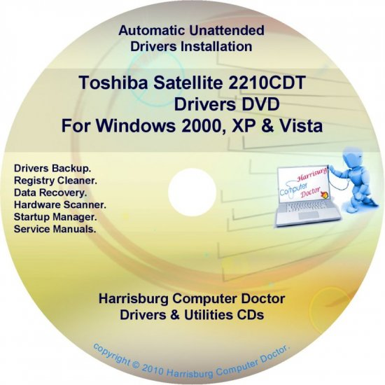 Toshiba Satellite 2210CDT Drivers Recovery CD/DVD