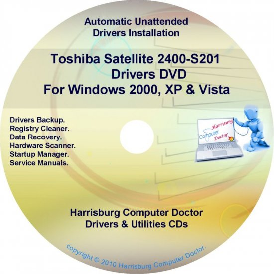 Toshiba Satellite 2400-S201 Drivers Recovery CD/DVD