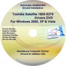 Toshiba Satellite 1805-S278 Drivers Recovery CD/DVD