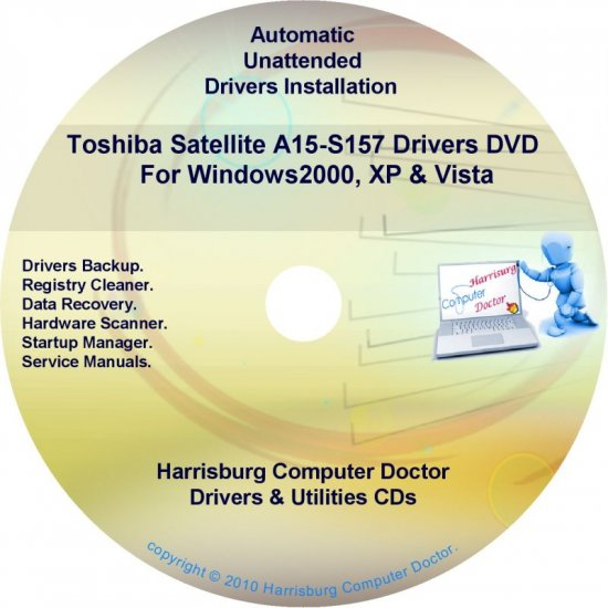 Toshiba Satellite A15-S157 Drivers Recovery CD/DVD