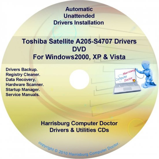 Toshiba Satellite A205-S4707 Drivers Recovery CD/DVD