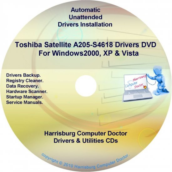Toshiba Satellite A205-S4618 Drivers Recovery CD/DVD
