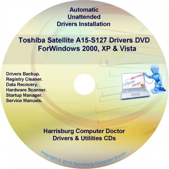 Toshiba Satellite A15-S127 Drivers Recovery CD/DVD