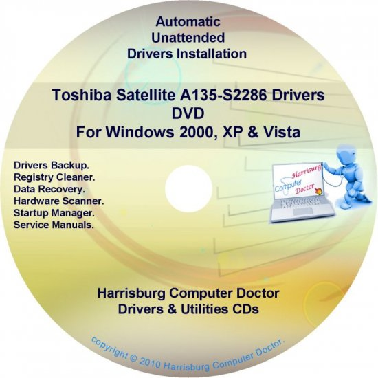 Toshiba Satellite A135-S2286 Drivers Recovery CD/DVD