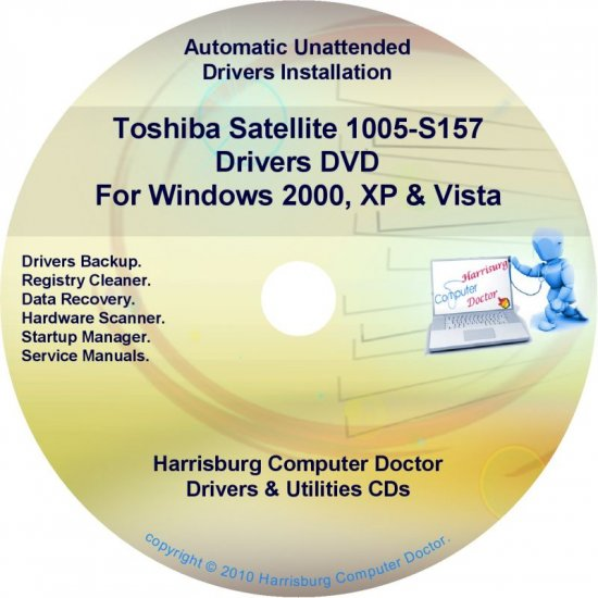 Toshiba Satellite 1005-S157  Drivers Recovery Restore