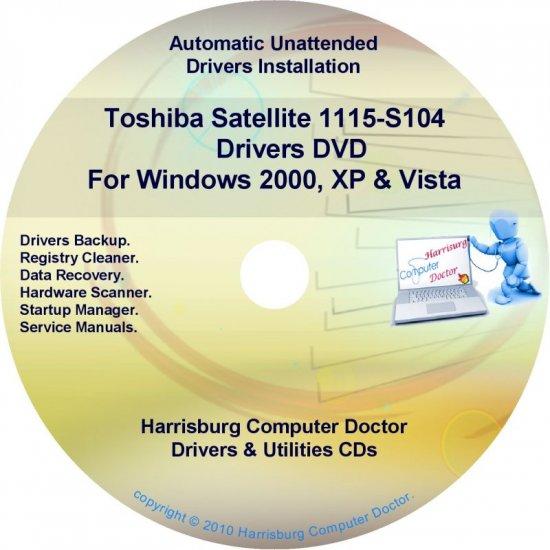 Toshiba Satellite 1115-S104  Drivers Recovery Restore