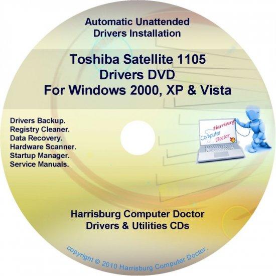 Toshiba Satellite 1105  Drivers Recovery Restore CD/DVD