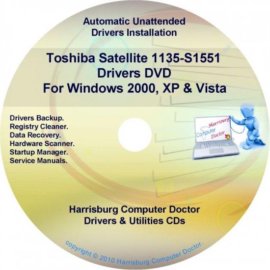 Toshiba Satellite 1135-S1551  Drivers Recovery Restore