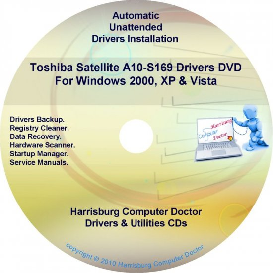 Toshiba Satellite A10-S169 Drivers Recovery CD/DVD