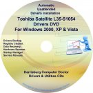 Toshiba Satellite L35-S1054 Drivers Recovery CD/DVD