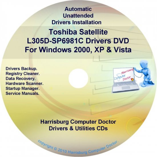 Toshiba Satellite L305D-SP6981C Drivers CD/DVD