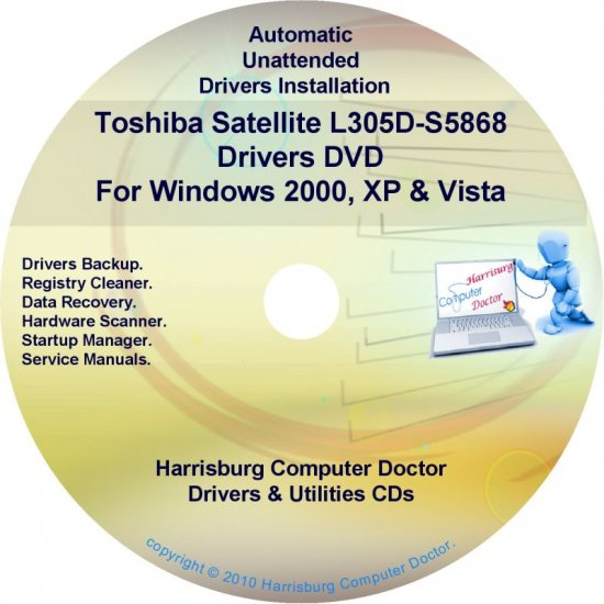 Toshiba Satellite L305D-S5868 Drivers Recovery CD/DVD