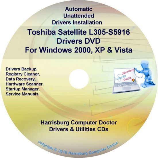 Toshiba Satellite L305-S5916 Drivers Recovery CD/DVD