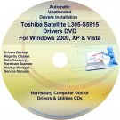 Toshiba Satellite L305-S5915 Drivers Recovery CD/DVD