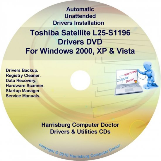 Toshiba Satellite L25-S1196 Drivers Recovery CD/DVD