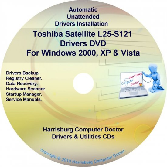 Toshiba Satellite L25-S121 Drivers Recovery CD/DVD
