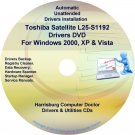 Toshiba Satellite L25-S1192 Drivers Recovery CD/DVD