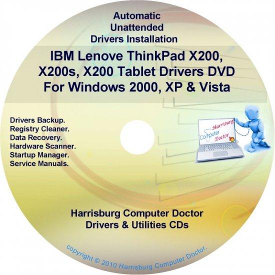 IBM Lenovo ThinkPad X200 Drivers Recovery Disc CD/DVD