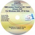 IBM Lenovo ThinkPad X61 Drivers Recovery Disc CD/DVD