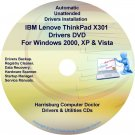 IBM Lenovo ThinkPad X301 Drivers Recovery Disc CD/DVD