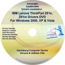 IBM Lenovo ThinkPad Z61 Drivers Recovery Disc CD/DVD