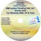 IBM Lenovo ThinkPad X40 &  X41 Drivers Disc CD/DVD