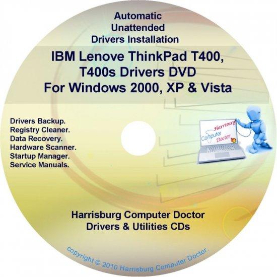 IBM Lenovo ThinkPad T400 Drivers Recovery Disc CD/DVD