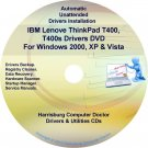 IBM Lenovo ThinkPad T400 Drivers Recovery Disc CD/DVD