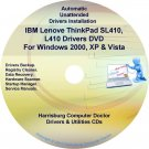 IBM Lenovo ThinkPad SL410 L410 Drivers Disc CD/DVD