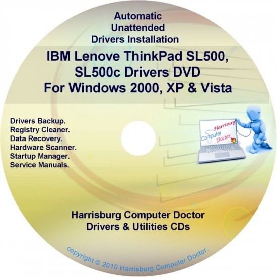 IBM Lenovo ThinkPad SL500 SL500c Drivers Disc CD/DVD