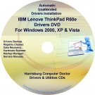 IBM Lenovo ThinkPad R60e Drivers Restore Disc CD/DVD