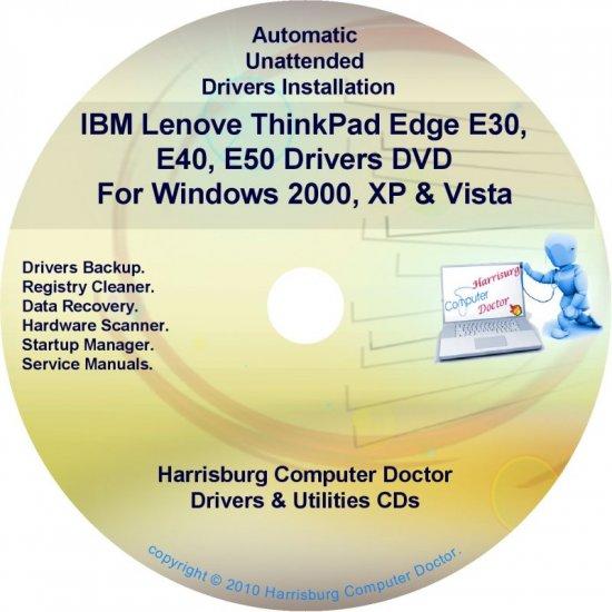 IBM Lenovo ThinkPad Edge E30 E40 E50  Drivers CD/DVD
