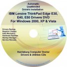 IBM Lenovo ThinkPad Edge E30 E40 E50  Drivers CD/DVD