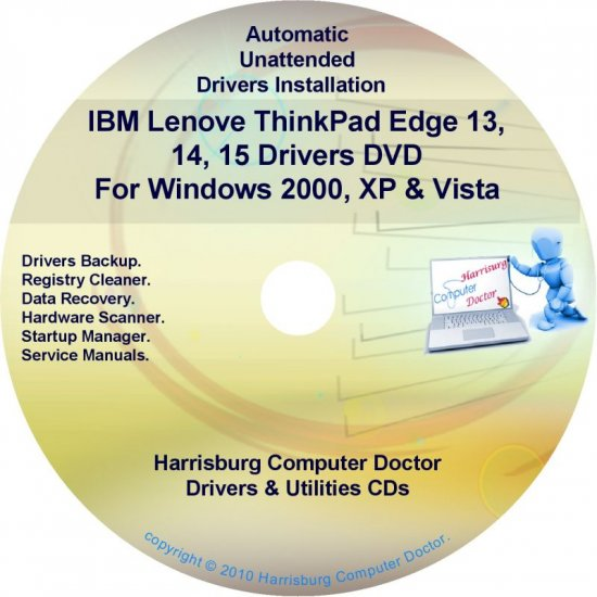 IBM Lenovo ThinkPad Edge 13 14 15 Drivers Disc CD/DVD