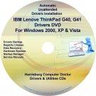 IBM Lenovo ThinkPad G40 G41 Drivers Disc CD/DVD