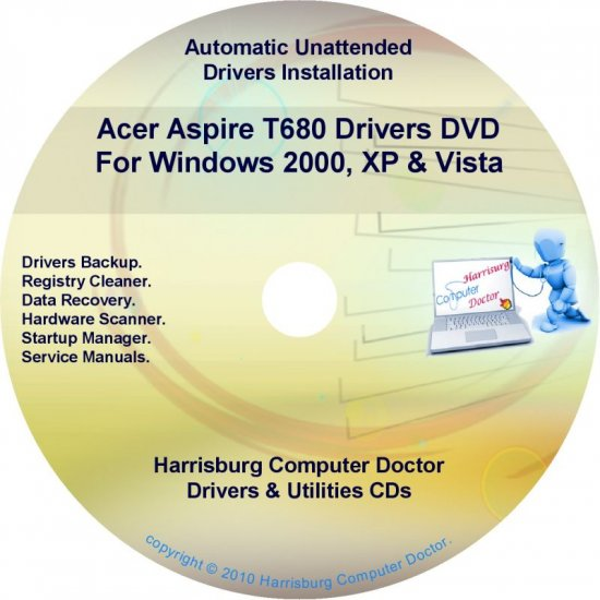 Acer Aspire T680 Drivers Restore Recovery CD/DVD