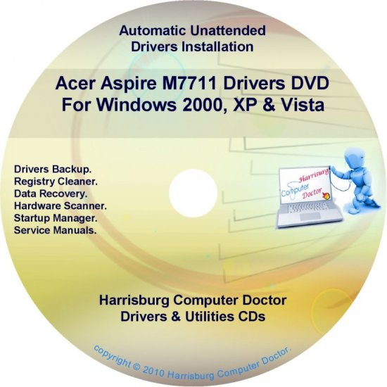 Acer Aspire M7711 Drivers Restore Recovery CD/DVD