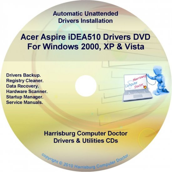 Acer Aspire iDEA510 Drivers Restore Recovery CD/DVD