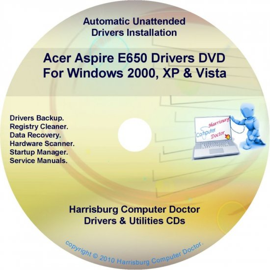 Acer Aspire E650 Drivers Restore Recovery CD/DVD