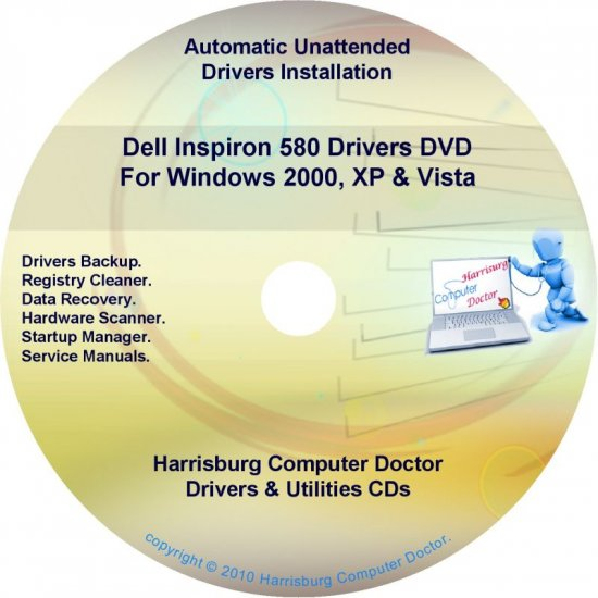 Dell Inspiron 580 Drivers Restore  Disc Disk CD/DVD
