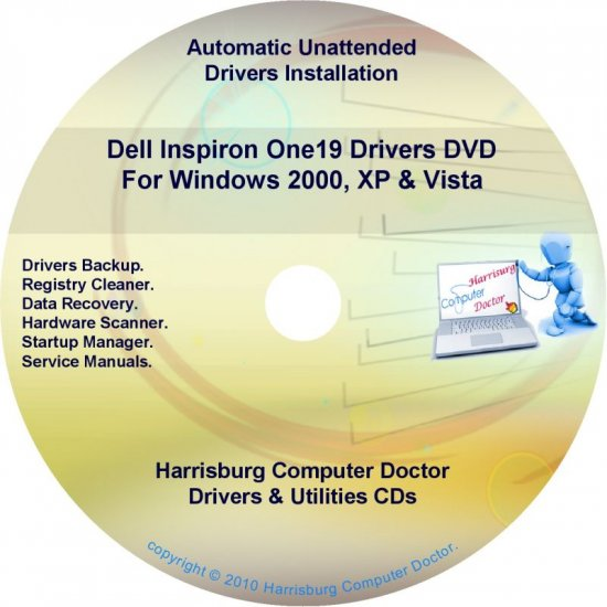 Dell Inspiron One19 Drivers Restore  Disc Disk CD/DVD