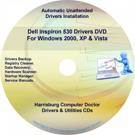 Dell Inspiron 530 Drivers Restore Disc Disk CD/DVD