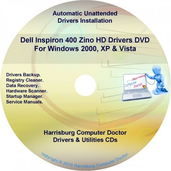 Dell Inspiron 400 Zino HD Drivers Disc Disk CD/DVD