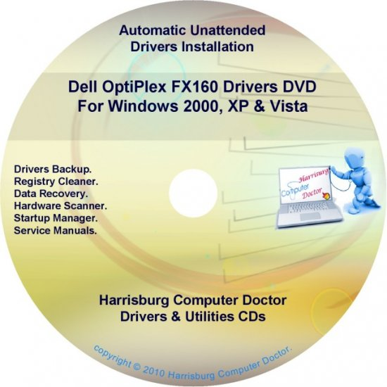 Dell OptiPlex FX160 Drivers Restore  Disc Disk CD/DVD