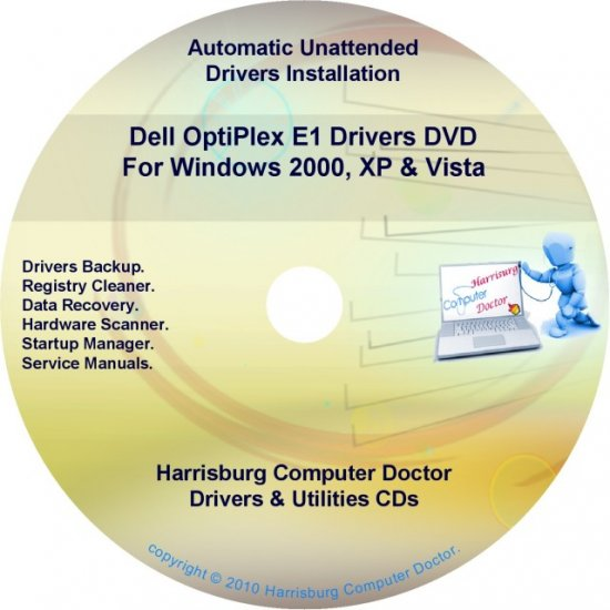 Dell OptiPlex E1 Drivers Restore  Disc Disk CD/DVD