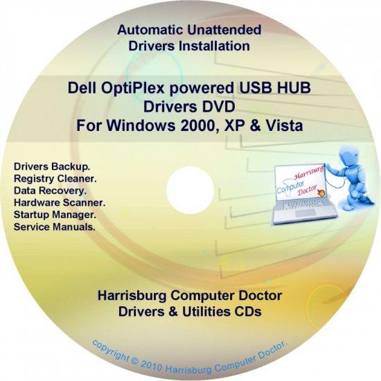 Dell OptiPlex powered USB/HUB Drivers Disc Disk CD/DVD