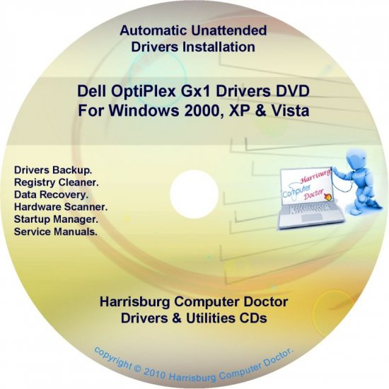 Dell OptiPlex GX1 Drivers Restore  Disc Disk CD/DVD