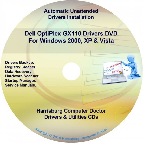 Dell OptiPlex GX110 Drivers Restore  Disc Disk CD/DVD